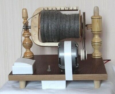 New Wooden Electric Spinning Wheel Additional Coils Handmade Russia 5
