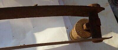 altes Wiegemesser Wiegenmesser Messer 2 Klingen Werkzeug Eisen Holzgriffe antik 11