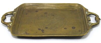 Antique Rare Islamic Brass handcrafted Beautiful Calligraphy Tray. G3-8 US 3