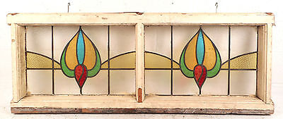 Vintage Stained Glass Window Panel (2785)NJ 2