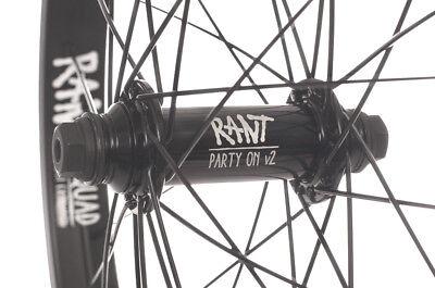Black Rant BMX Party On V2 Cassette RHD Rear Wheel