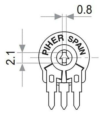 Passive Bauelemente Elektronik & Messtechnik 5 pezzi Trimmer resistivo 2,2 M Ohm Piher Spain trimmer potenziometro PT10LH 2M2