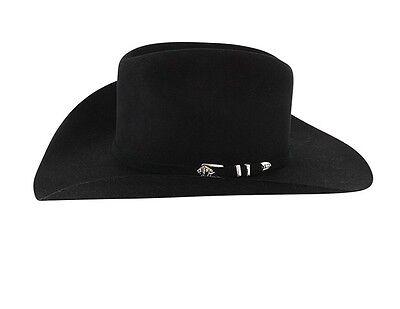 ... 4 of 6 STETSON 4X BUFFALO FUR-APACHE COWBOY WESTERN BLACK HAT+FREE  HATBrush+NO TAX a5d3b66a9175
