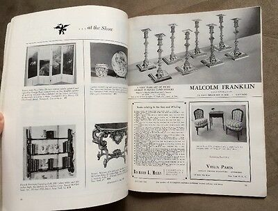 Rare ANTIQUES  Magazine from January 1960 Vol. LXXVII, No. 1 Collector's Guide 9