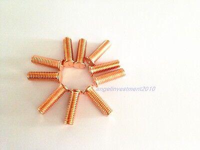 20pcs M6X14 Plated copper welding screw