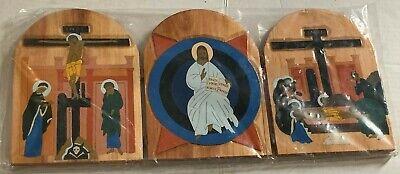 Religioso Litúrgico Alemán Madera Decoración de Pared 6 Piezas Lote 5
