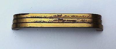 "Vintage Antique Hardware Art Deco Drawer Pull MCM Mid Century Modern 4"" center 9"