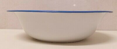 Antiguo Cuenco Emailleschüssel Decoración de Rociadura Azul Blanco Arte 20er Año 7
