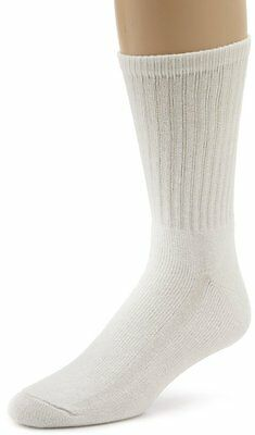 Davido mens socks crew 100% cotton made in Italy 12 pairs white 10-13 causal 2