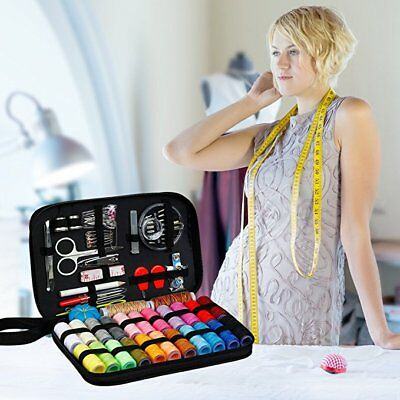 Travel Sewing Kit Thread Threader Needle Tape Storage Bag Scissor Thimble Set US 4