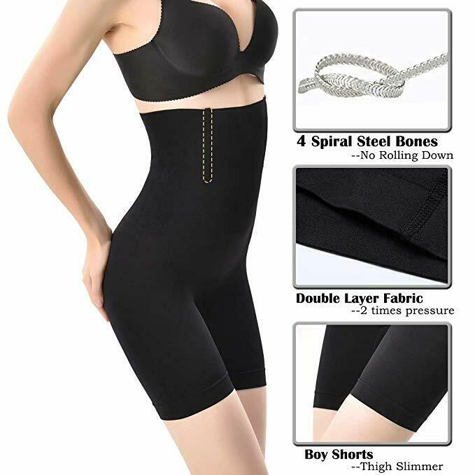 Shapermint Empetua - All Day Every Day High-Waisted Shaper Shorts Tummy Control 4