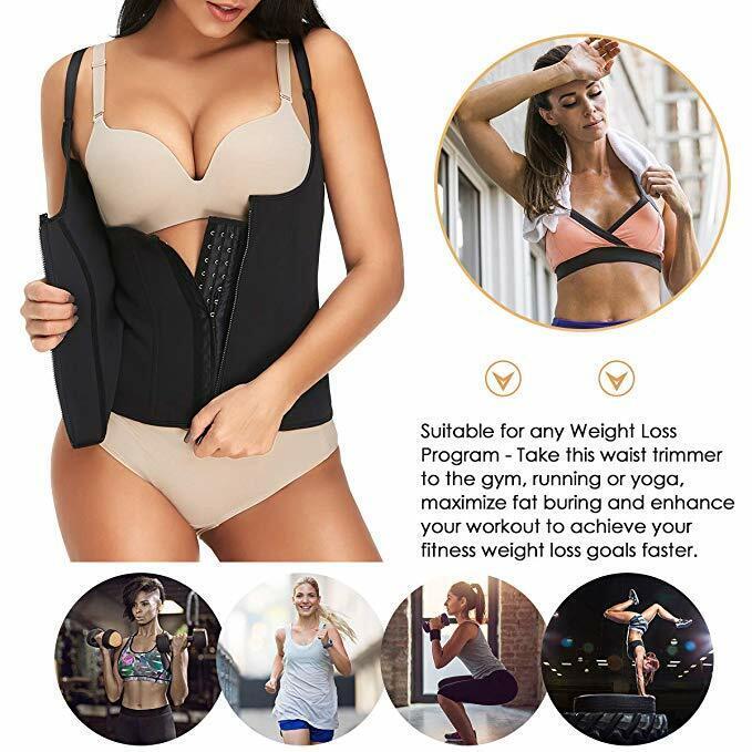 Women Body Shaper Shapewear Waist Trainer Cincher Underbust Corset Sauna Vest US 10