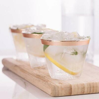 Clear Plastic Disposable Glasses Dessert Champagne Wine Drink Cups Wedding Party 8
