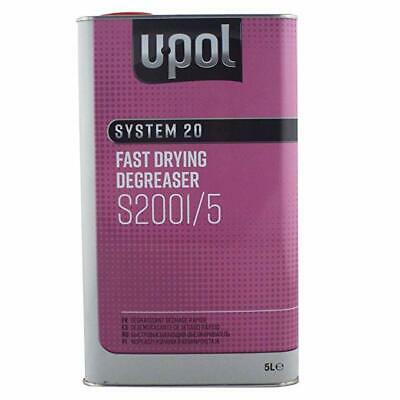 1 X U-POL SYSTEM 20 S2001 FAST PANELWIPE DEGREASER 5L Panel wipe Upol 2