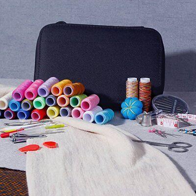 Travel Sewing Kit Thread Threader Needle Tape Storage Bag Scissor Thimble Set US 5