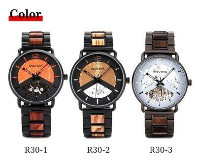 Luxury Design BOBO BIRD - Sports Japanese Quartz Wrist Watch - Men Casual 43mm 3