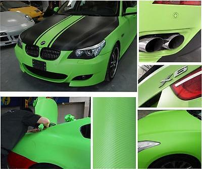 "12""x50"" 3D Texture Carbon Fiber Wrap Vinyl Decal Car Sticker Sheet 30x127cm 2"