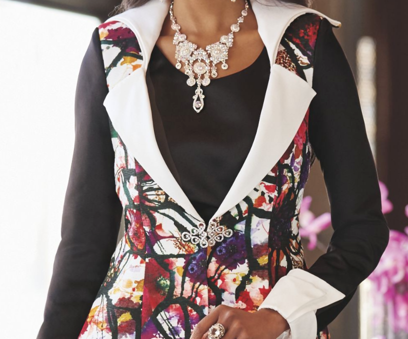 Ashro Berry Fuchsia Front  Zip Up and Zip Trim Skirt Suit 6 8 10 14 20W 22W 24W