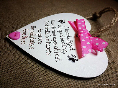 PET MEMORIAL-Dog-Cat Indoor Wooden Personalised Plaque- Pink 2