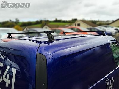 To Fit 07 - 16 Peugeot Expert Tepee PVC Metal Black Roof Rack Bars 2 Bar System 7