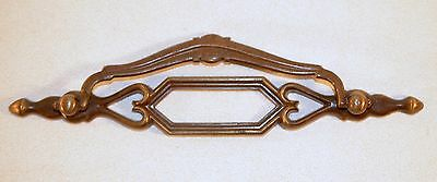 Vintage Bail Pull Brass Plated Drawer Furniture Desk Handle 2
