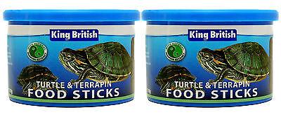 King British Turtle & Terrapin Food Sticks 110g 2 Pack Deal