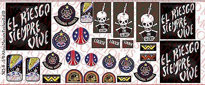 1//10 Scale Decals Aliens Colonial Marines Patches Waterslide Decals
