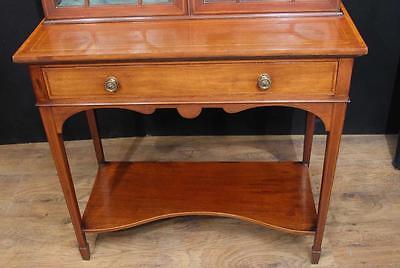 Antique Edwardian Sheraton China Cabinet Bookcase 10
