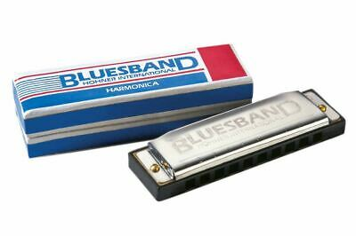Hohner BluesBand Harmonica Key of C Blues Band Stainless Steel 2
