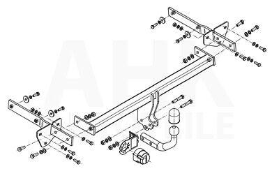 Für Mercedes-Benz W169 A-Klasse Anhängerkupplung starr+ES 13p ABE