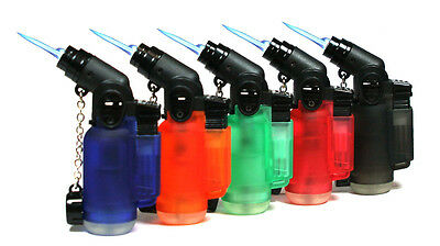 2 Pack 45 Degree Angle Jet Flame Butane Torch Lighter Refillable Windproof 2