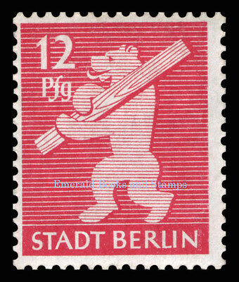 EBS Germany 1945 Soviet Occupation Berlin Bear Berliner Bär Michel SBZ1-7A MNH** 5