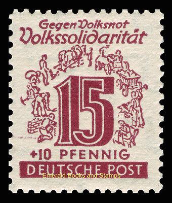 EBS Germany 1946 Soviet Zone - West Saxony - Volkssolidarität set 138-149 MNH** 8