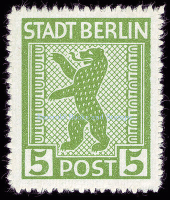 EBS Germany 1945 Soviet Occupation Berlin Bear Berliner Bär Michel SBZ1-7A MNH** 3