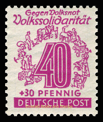 EBS Germany 1946 Soviet Zone - West Saxony - Volkssolidarität set 138-149 MNH** 11