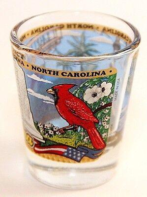 North Carolina State Wraparound Shot Glass Shotglass 3