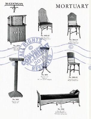 Sheboygan Fiber Furniture 1937 CATALOG Wicker Rattan Upholstered Chairs + Settee 6