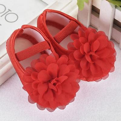 Infant Newborn Baby Girl Princess Crib Shoes Soft Sole Pram Anti-slip Prewalker 4
