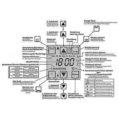 NEU Zeitschaltuhr Vestamatic Quattro S50 + Sonnensensor 1m  RolladenSteuerung 11