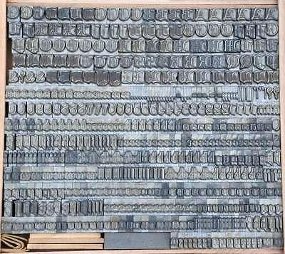 FRAKTUR 14mm Bleischrift Bleisatz  Alphabet Handsatz Bleilettern Typographie ABC 2