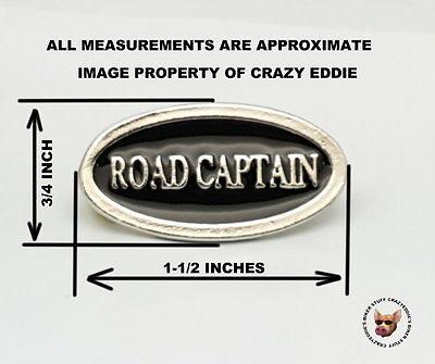 ROAD CAPTAIN CHROME POLISHED BIKER PIN 1 1//2 INCH PIN