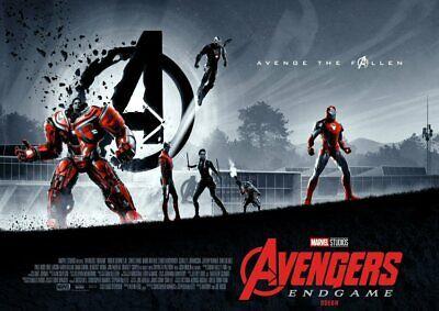 Avengers Endgame: Thor, Ironman, Hulk, Odeon Cimema A5 A4 A3 Movie DVD Posters 2