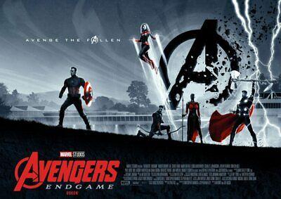 Avengers Endgame: Thor, Ironman, Hulk, Odeon Cimema A5 A4 A3 Movie DVD Posters 3