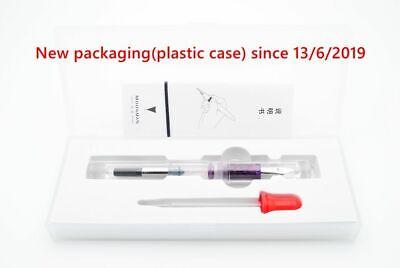 Moonman C1 Transparent Eyedropper Fountain Pen  F Nib Ink Pen Original Box 7