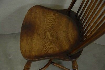 8 Farmhouse English Windsor Dining Chairs Yew Furniture 9 • £2,385.00