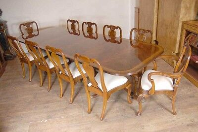 10 English Queen Anne Walnut Dining Chairs Ann Chair 10