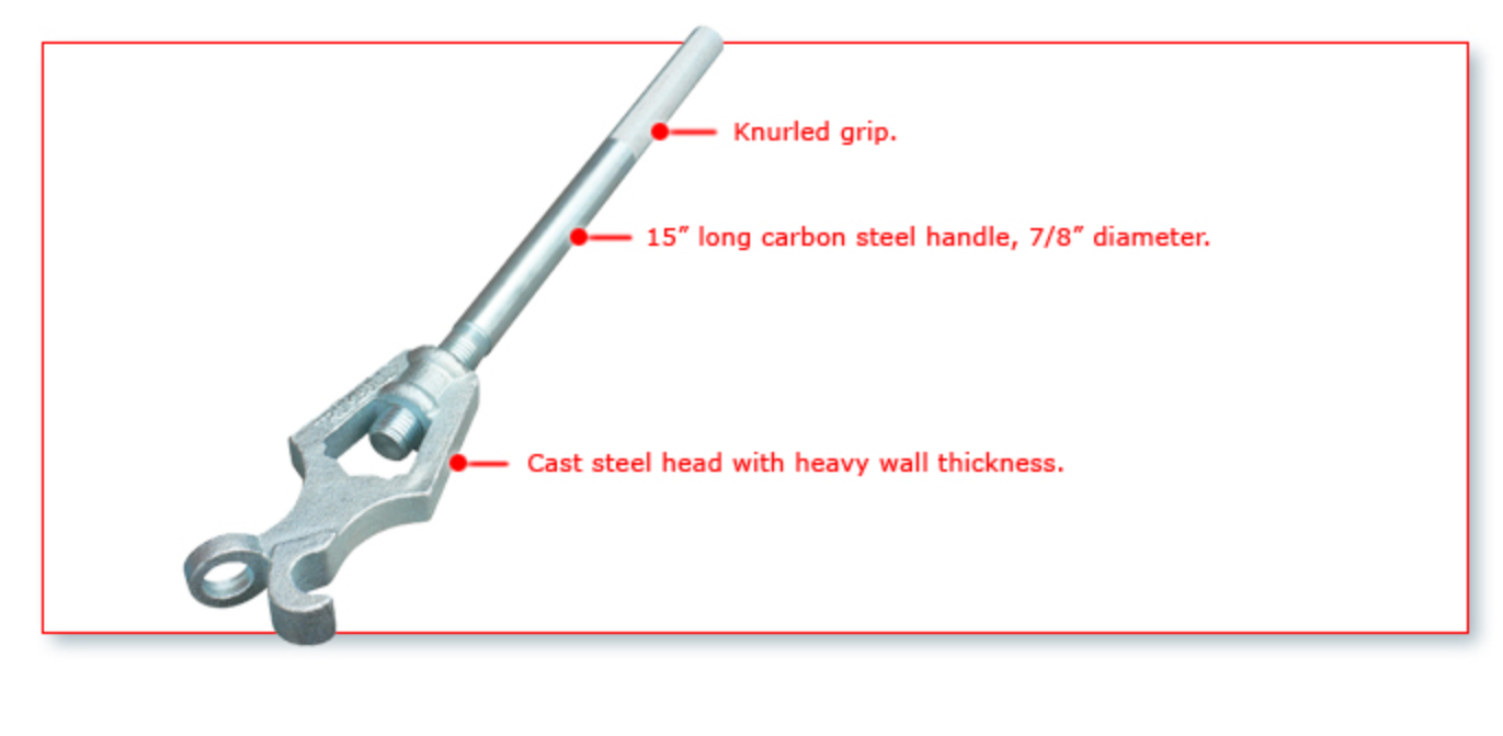 Knurled handle Adjustable size head NEW Fire Hydrant Wrench