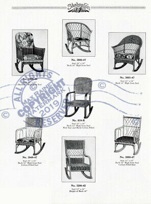 Sheboygan Fiber Furniture 1937 CATALOG Wicker Rattan Upholstered Chairs + Settee 7