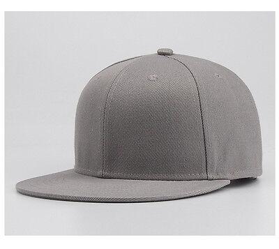Snapback Baseball Cap Plain Hip Hop Retro Classic Vintage Funky Golf Flat Hat 8