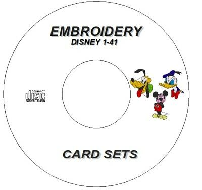 New Disney Character Embroidery Sets 1 To 41 - Download Only Brother  Pes Format 2